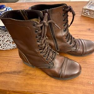 Steve Madden Shoes - Steve Madden Women's Troopa Combat Leather Boots